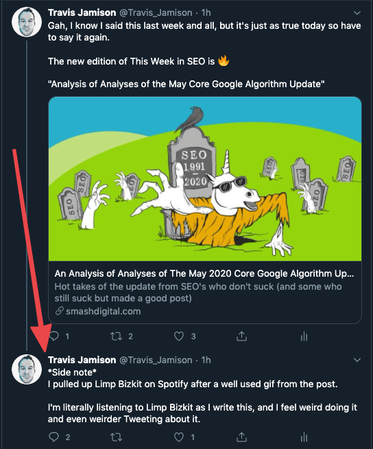 Travis Jamison is an embarrassment on Twitter