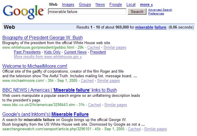 google bombing example